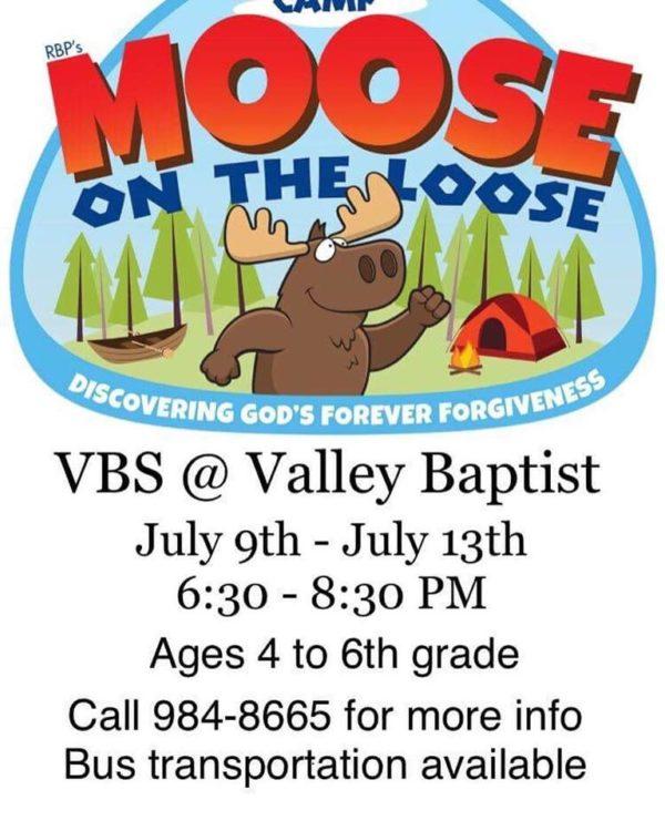 Vacation Bible School July 9 - 13 2018 - Valley Baptist Church